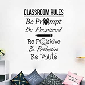 classroom rules decal education quote art home decor pvc