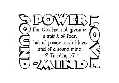 Timothy God Tim Given Fear Spirit Bible