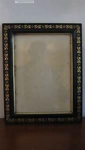 Bilderrahmen Schwarz Holz : alter bilderrahmen schwarz mit goldmuster holz au enma 27 x 34 5 cm ~ Frokenaadalensverden.com Haus und Dekorationen