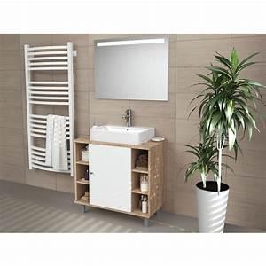Meuble Salle De Bain Sous Vasque : meuble sous lavabo armoire de bain meuble sous vasque ~ Nature-et-papiers.com Idées de Décoration
