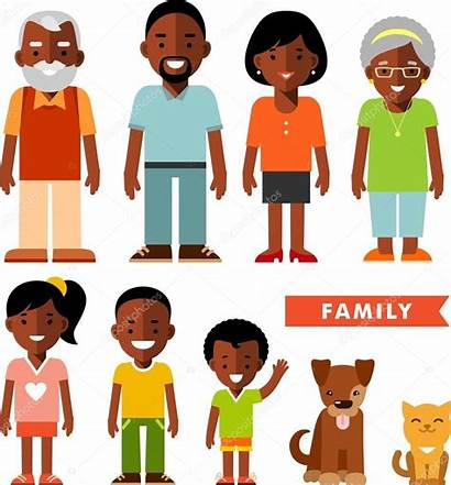 African American Members Illustration Clipart Vector Ethnic