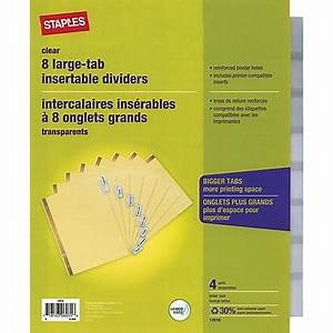 staplesr insertabletab dividers 8 tabs clear staplesr With insertable dividers 8 tab template
