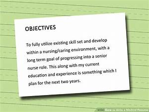 how to write a medical resume 7 steps with pictures With how to write a medical resume