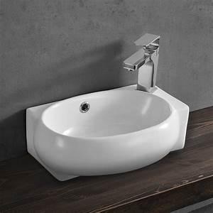 Waschbecken Gäste Wc : waschbecken g ste wc 42x28cm keramik wei ~ Watch28wear.com Haus und Dekorationen