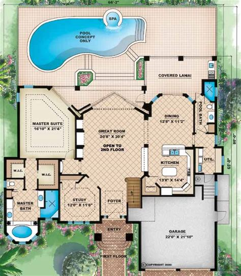 Disney Deck Plan Laundry by Florida Style House Plans 3005 Square Foot Home 2