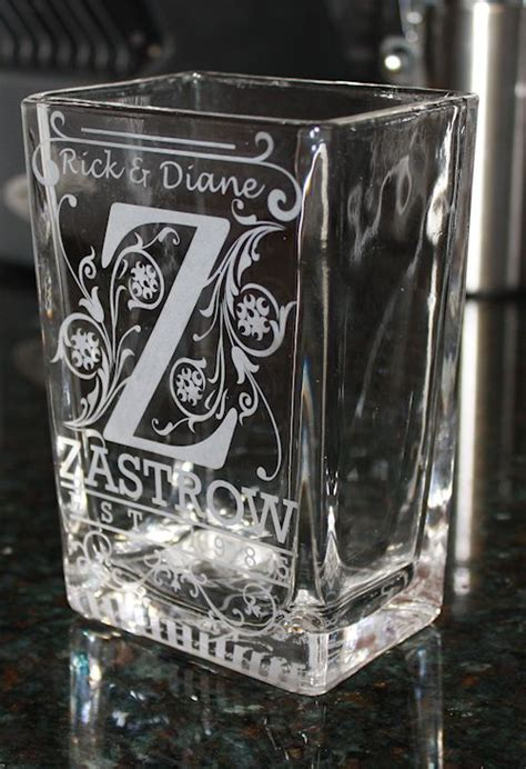 stencil  glass etching craft ideas pinterest