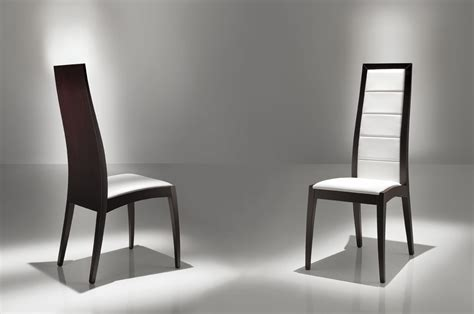 two tone modern dining chairs using white vinyl seat and