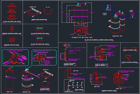 fire fighting  fire suppression system dwg  qty