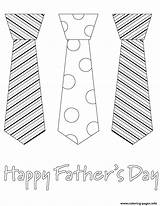 Coloring Fathers Father Printable Tie Boss Necktie Sheets sketch template