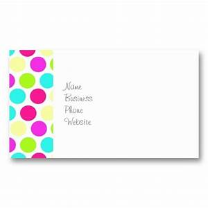 girly colorful polka dots pattern for girls With polka dot business card templates free
