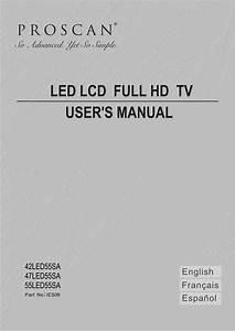 Proscan 42led55sa User Manual Lcd Television Manuals And