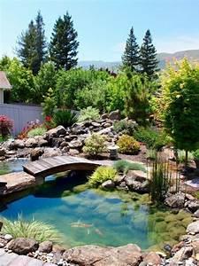 Bassin De Jardin Pour Poisson : 27 id s pour le bassin de jardin pr form hors sol ~ Premium-room.com Idées de Décoration