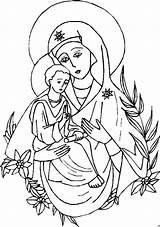 Maryja Malvorlage Matka Religiocando Kolorowanka Boska Kleurplaten Odighitria Vergine Disciples Xls Ausmalbilder Zapisano sketch template