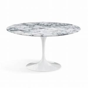 Table Ronde En Marbre : table knoll table de repas saarinen ronde marbre ~ Mglfilm.com Idées de Décoration