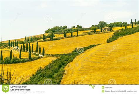 Landscape In Val Dorcia Tuscany Stock Image Image