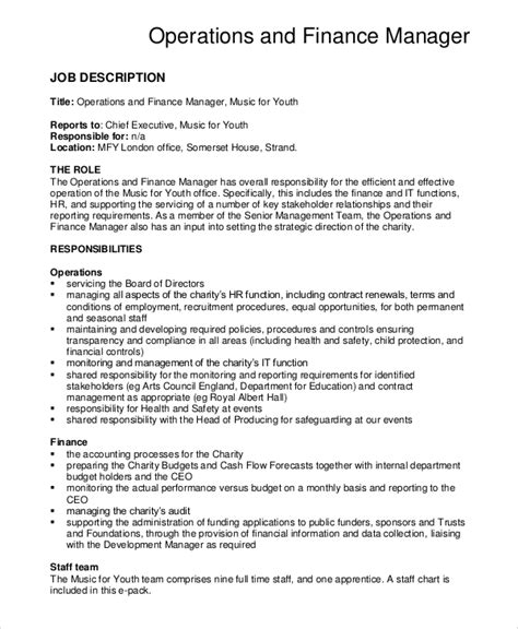 Financial Operations Manager Resume by Senior Accountant Description Audit Officer