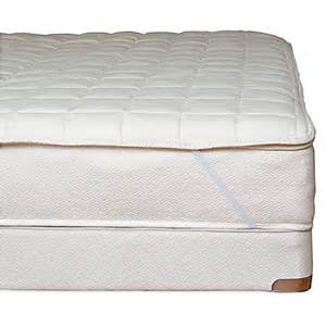 Naturepedic Organic Cotton Quilted California King Mattress Topper With Straps Natural