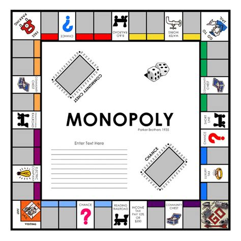monopoly template laurie callison s visual vocabulary free quickfill monopoly template to use in storybook