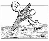 Kleurplaat Ruimtevaart Kleurplaten Geschiedenis Maan Coloring 1962 Satellite Raumfahrt Geschichte Malvorlage sketch template