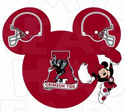 Alabama Tide Clipart Crimson Football Mouse Minnie