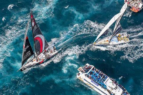 intensity  action   volvo ocean race fleet takes