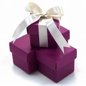 2 pc favor boxes 2x2x2 plum purple 403508 2pc favor box for Cheap wedding favor boxes