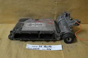 99 Vw Beetle Engine Control Unit With Ignition Switch