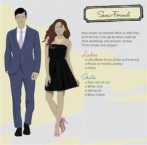 Decoding the dress code semi formal fashion my style for Wedding invitation wording semi formal attire