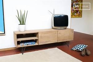 Meuble Tele En Bois : meuble tv en bois zurich bois clair et esprit r tro pib ~ Melissatoandfro.com Idées de Décoration