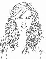 Coloring Curly Swift Taylor Country Printable Singer Colouring Adult Drawing Wavy Copic Sheets Adults Super Zentangle Colorluna Visit Getdrawings Getcolorings sketch template