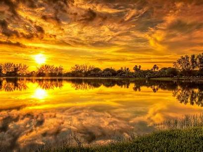 Wallpapers Sunset Backgrounds Sky Clouds Lovely Reflection