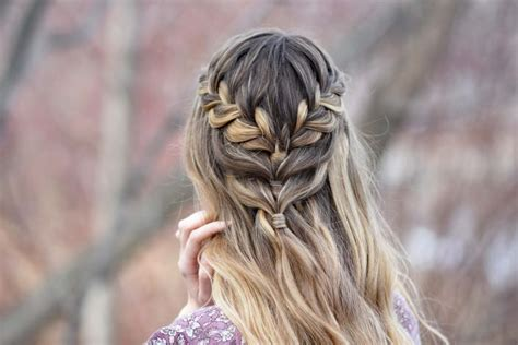 half up half down cute girls hairstyles