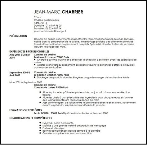 lettre de motivation chef de cuisine en restauration collective exemple de cv de cuisinier lettre de motivation 2017