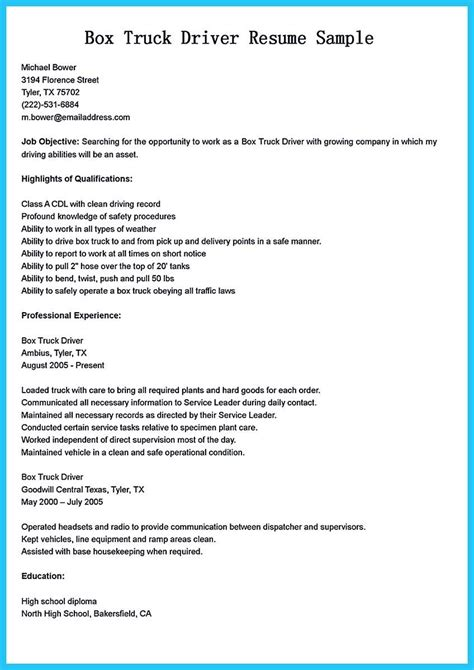 School Driver Description For Resume by Stunning Driver Resume To Gain The Serious
