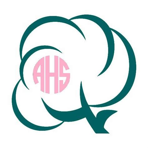 cotton boll monogram decal southern monogram decal pinned  pinetsycom car decals