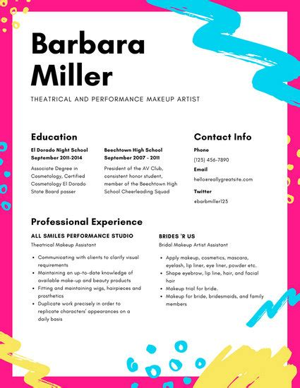 Colorful Resume Templates by Colorful Resume Templates Canva