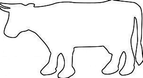 cow template cow outline cliparts co