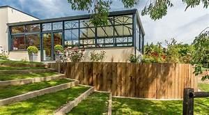 jardin en pente fashion designs With amenagement exterieur maison terrain en pente
