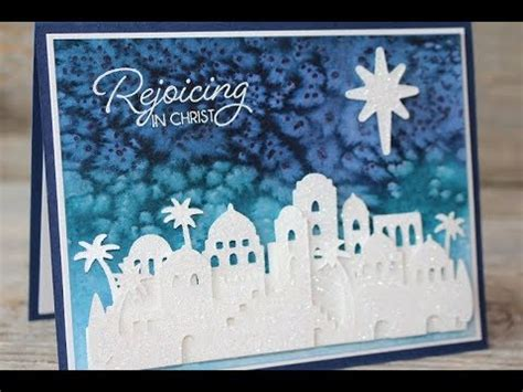 youtube watercolor christmas cards tutorials stin up in bethlehem watercolor card tutorial