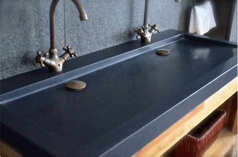 cuisine haut de gamme vasques en granit noir yate shadow à poser 120x50