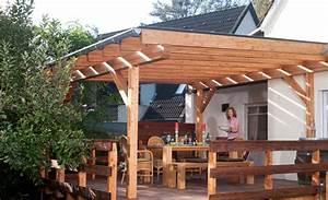 Terrassenuberdachung terrasse balkon selbstde for Feuerstelle garten mit dach balkon selber bauen