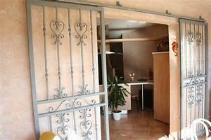 Grille Porte D Entrée : grille ouvrante de porte d 39 entr e ferronnerie j l f bati ~ Melissatoandfro.com Idées de Décoration