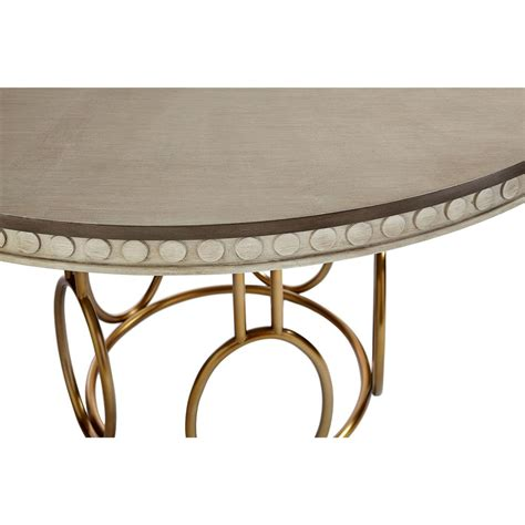 gold round dining table alexis modern classic round birch and gold dining table