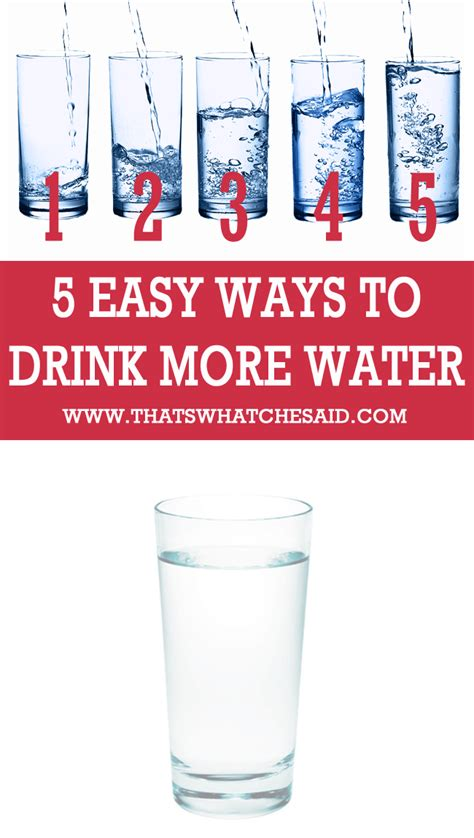 5 Simple Ways To Drink More Water  That's What {che} Said