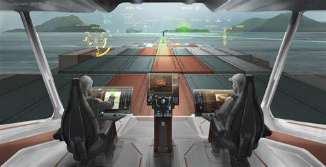 wallpaper cargo ship envisioning  future