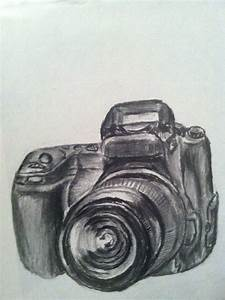Pencil drawing of camera by Floridastate on DeviantArt
