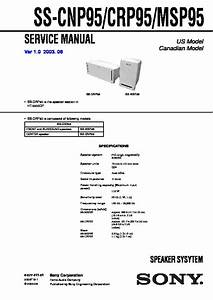 Sony Ht-6600dp  Ss-cnp95  Ss-msp95 Service Manual