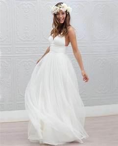Casual summer wedding dresses beach elasdress for Summer wedding dresses