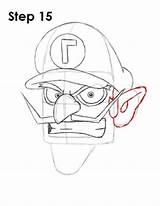 Waluigi Mario Draw Drawing Step Drawings Characters Easydrawingtutorials Bros Nintendo Pencil Desenhos Learn Tattoo Start Sketches sketch template