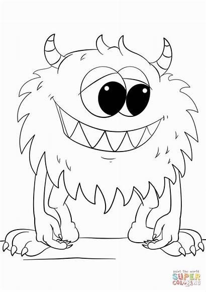 Coloring Monster Preschool Halloween Number Grade Moon